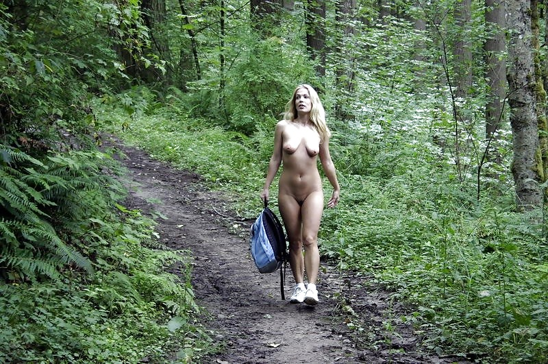 Sexy girl in forest