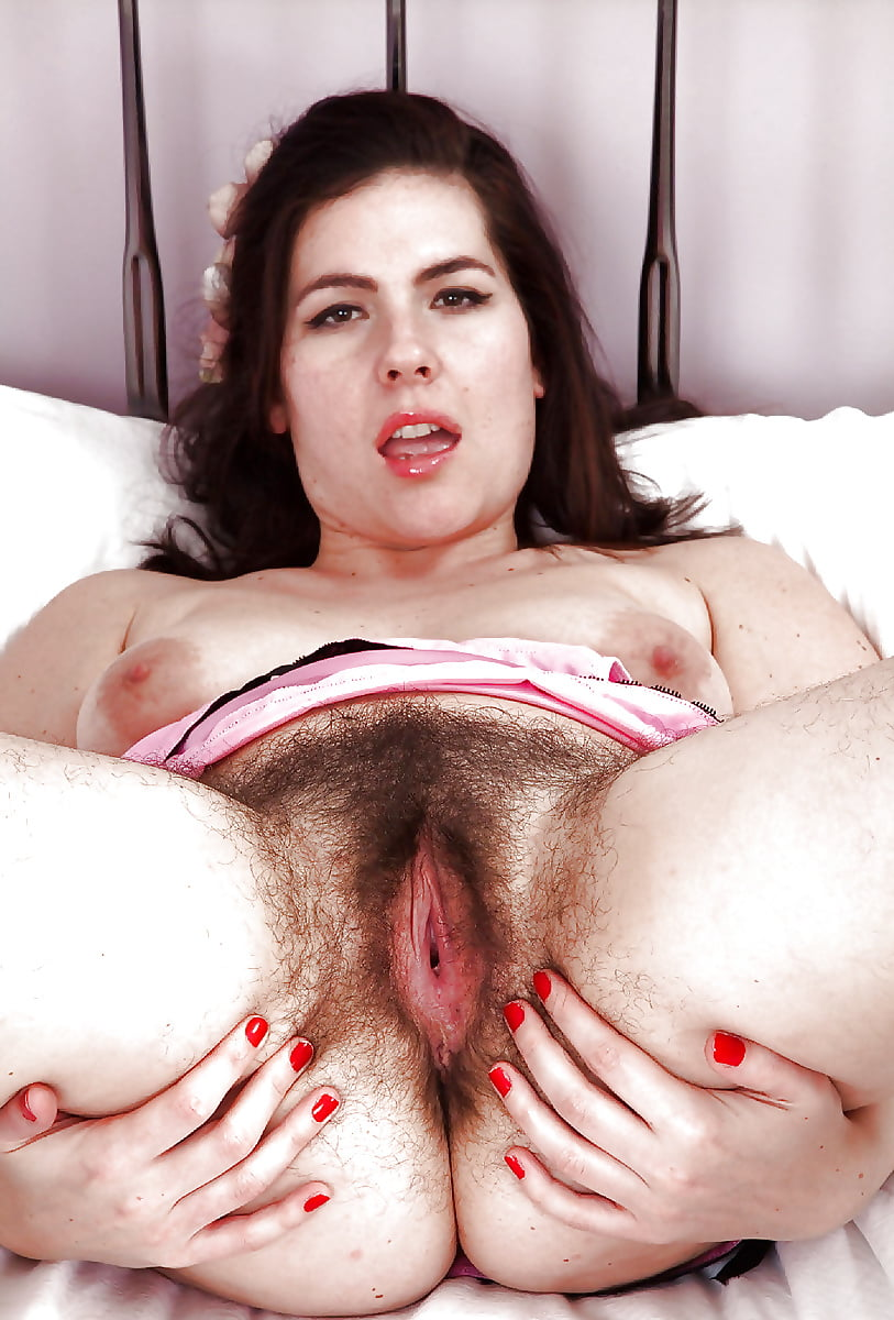 Lady with hairy vagina