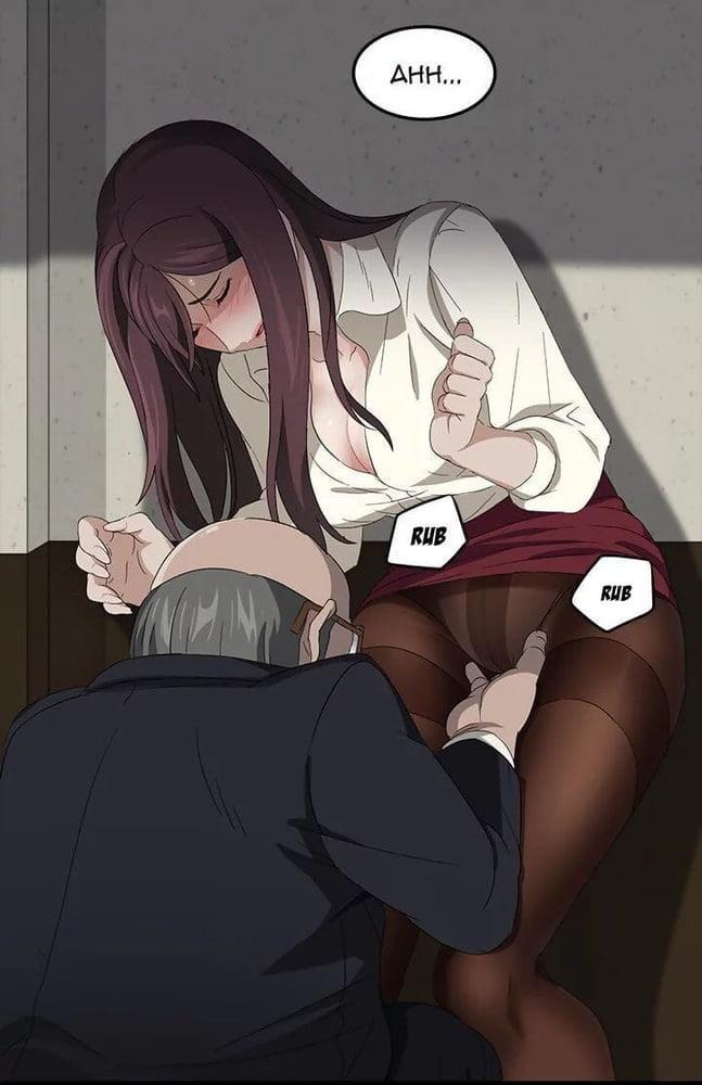 short haired milf masturbating