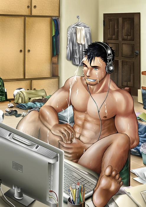 порно рисунки голых парней это только