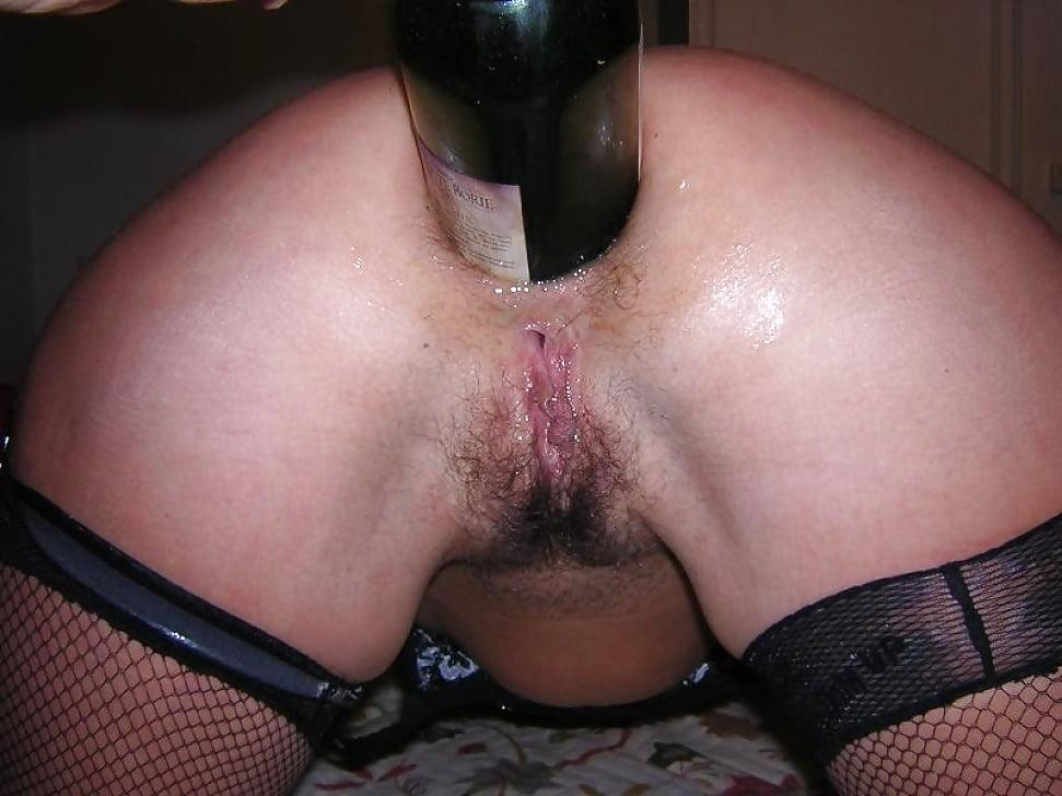 Long dildo in anal