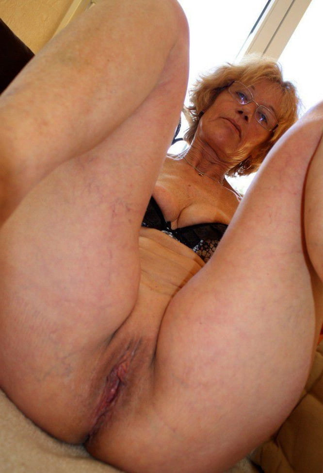 Beautiful granny playing with pussy