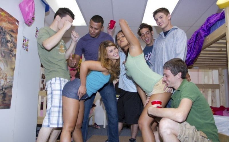 Teen college blowjob