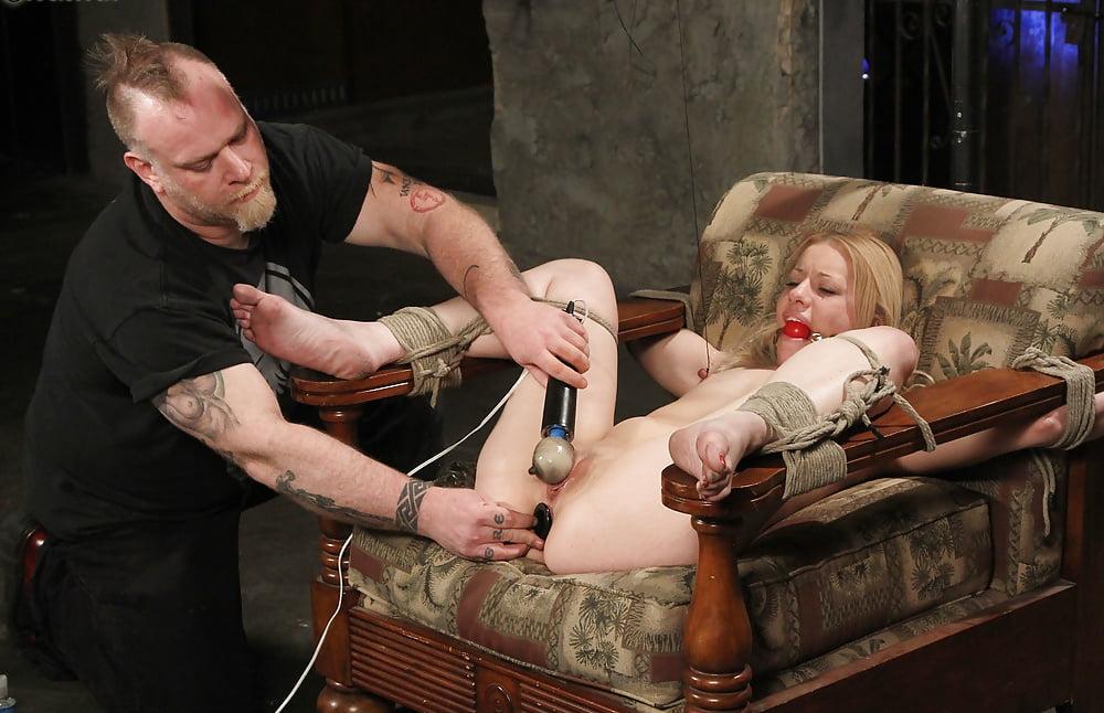 Forced orgasm tied gagged