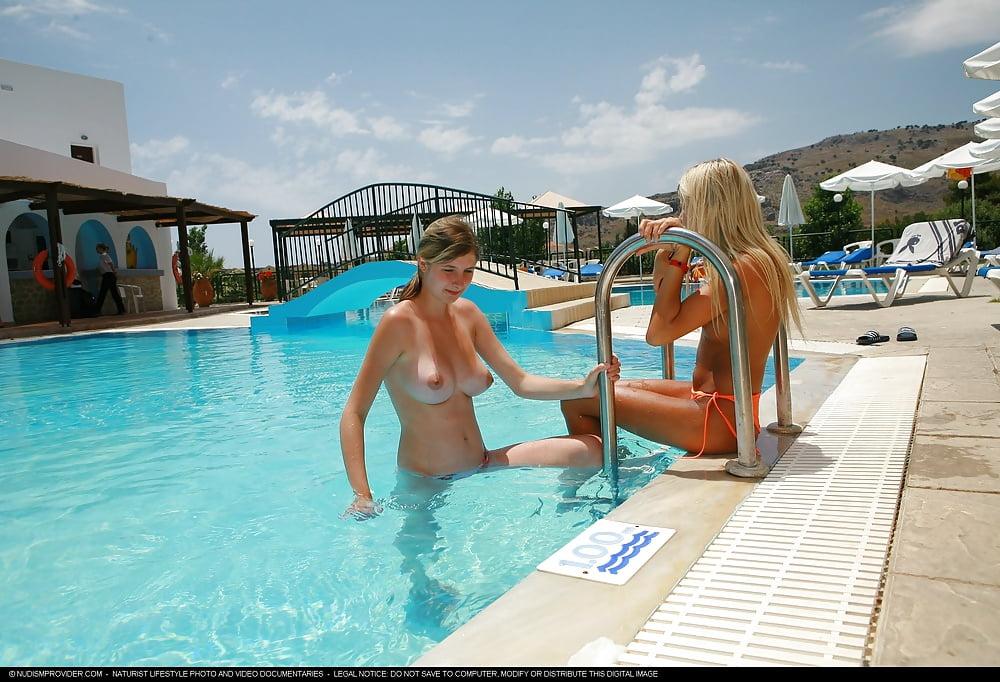 Nude teen beach or pool pics