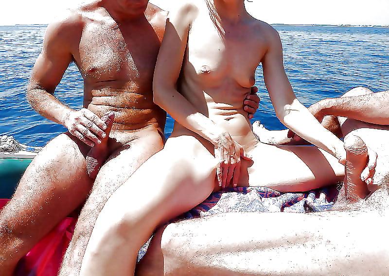 Gay sex on public beach