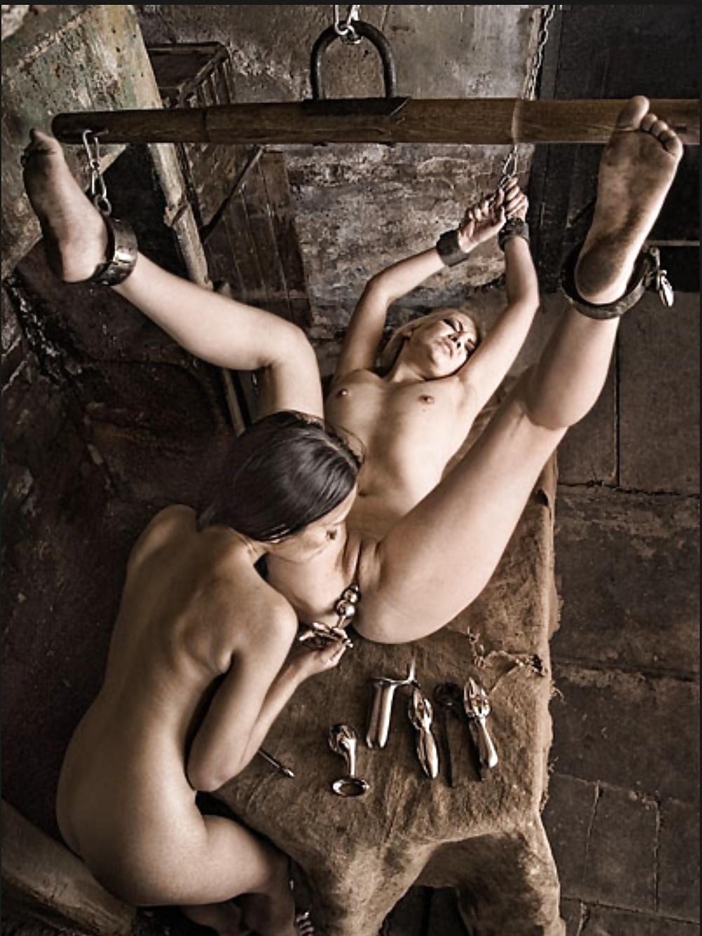 Lesbian beach bondage, really nice body nude