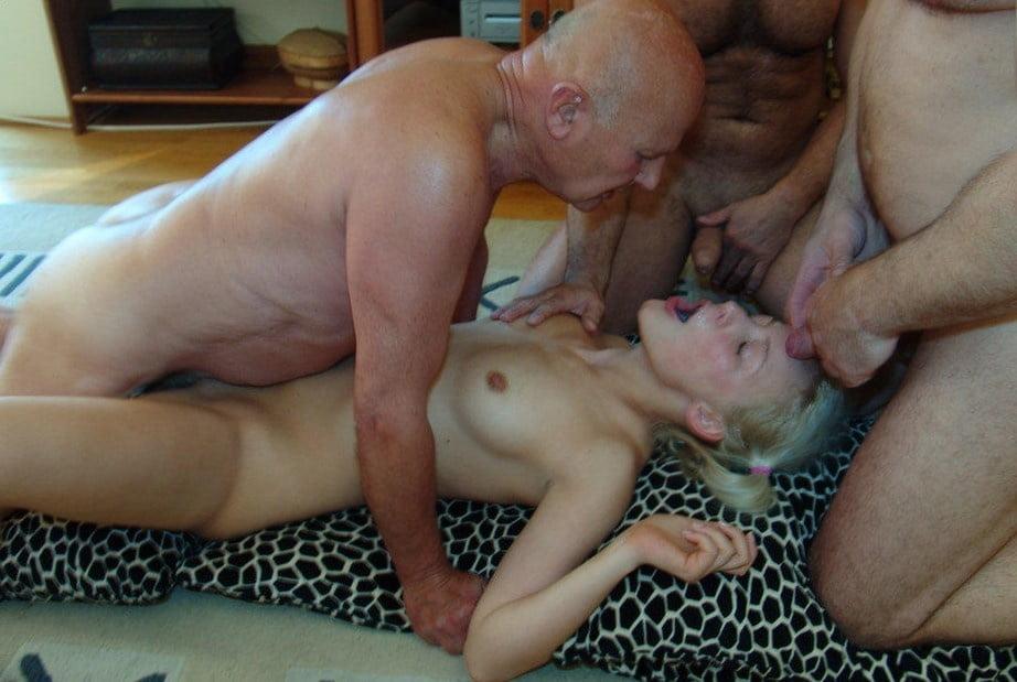 Hot Blonde Big Tits Gangbang