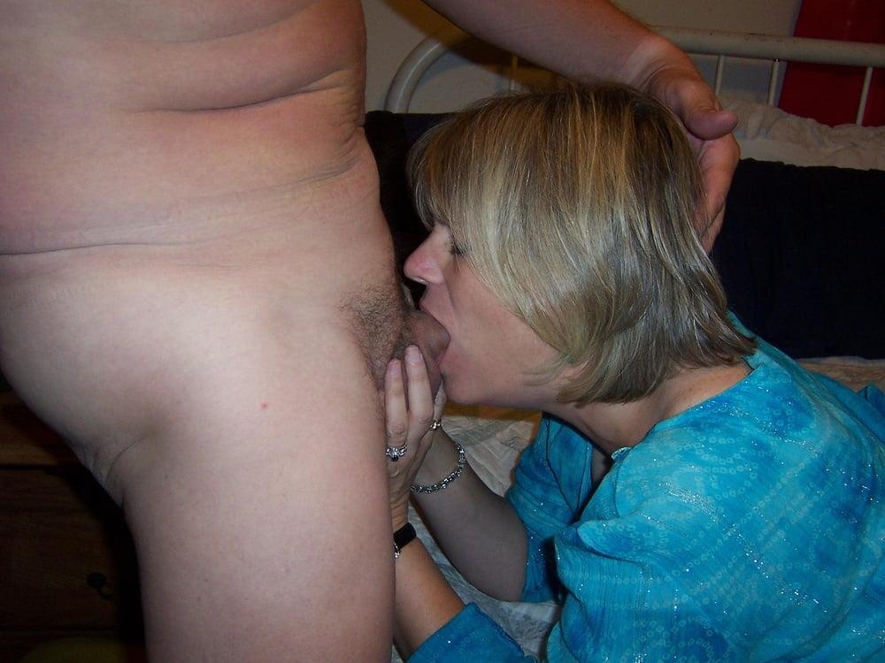 Older woman deep throat