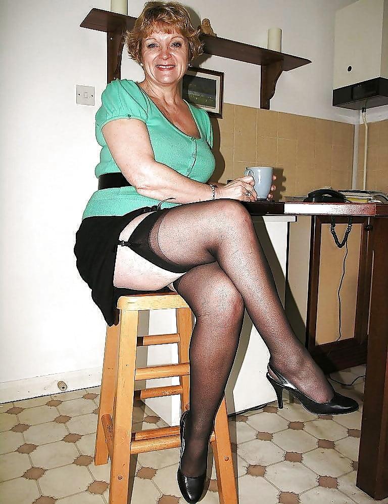 British Mature Solo Stockings