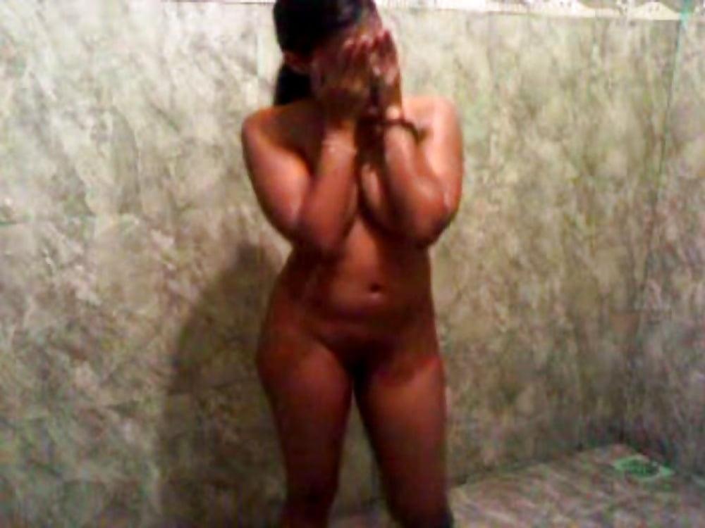 Nude women in the shower
