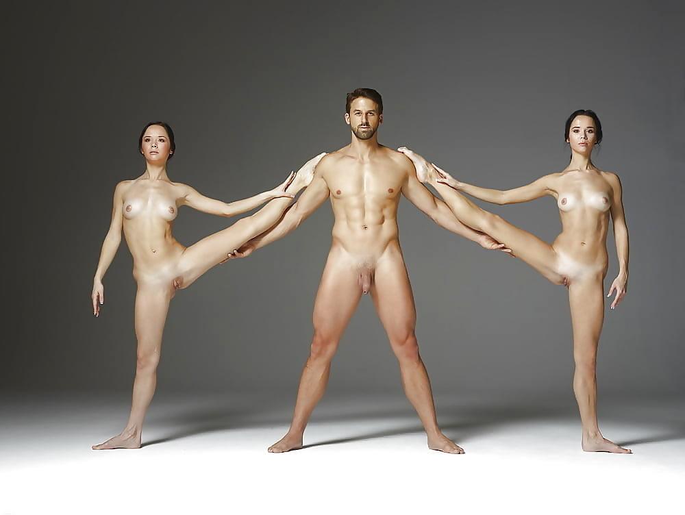 Hot ballet dancer stretching