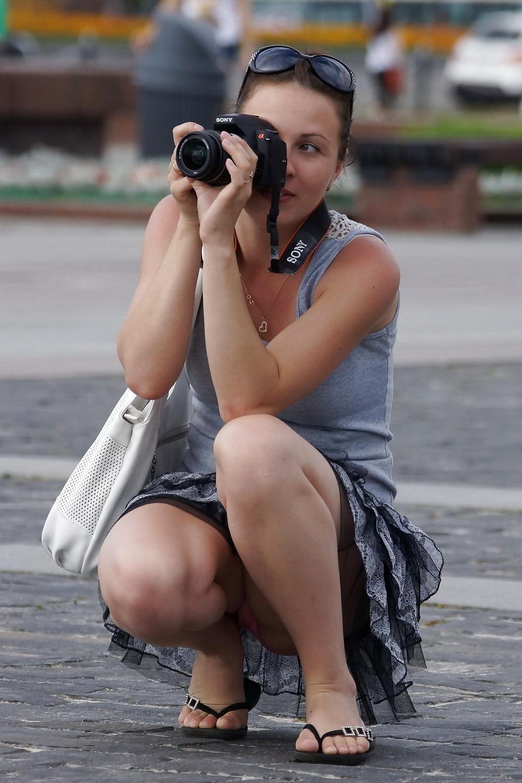 Different types of upskirt photos