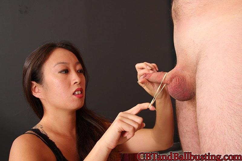 Chinese trample ballbusting femdom