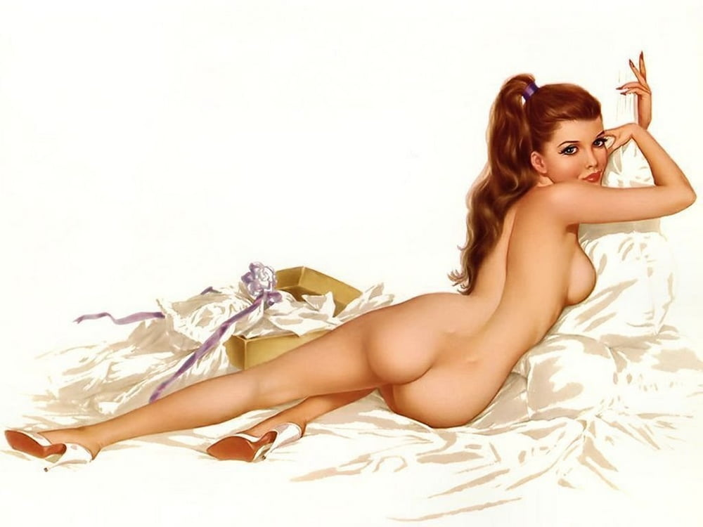 Digital Vintage Pinup Painting Digital Art By Esoterica Art Agency