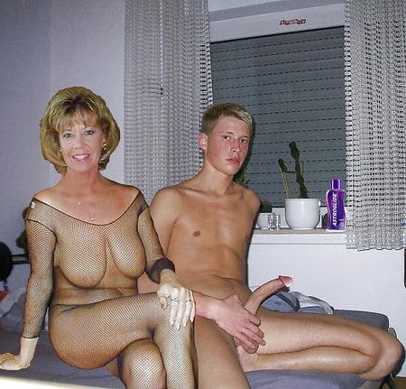 Mature big tits boy