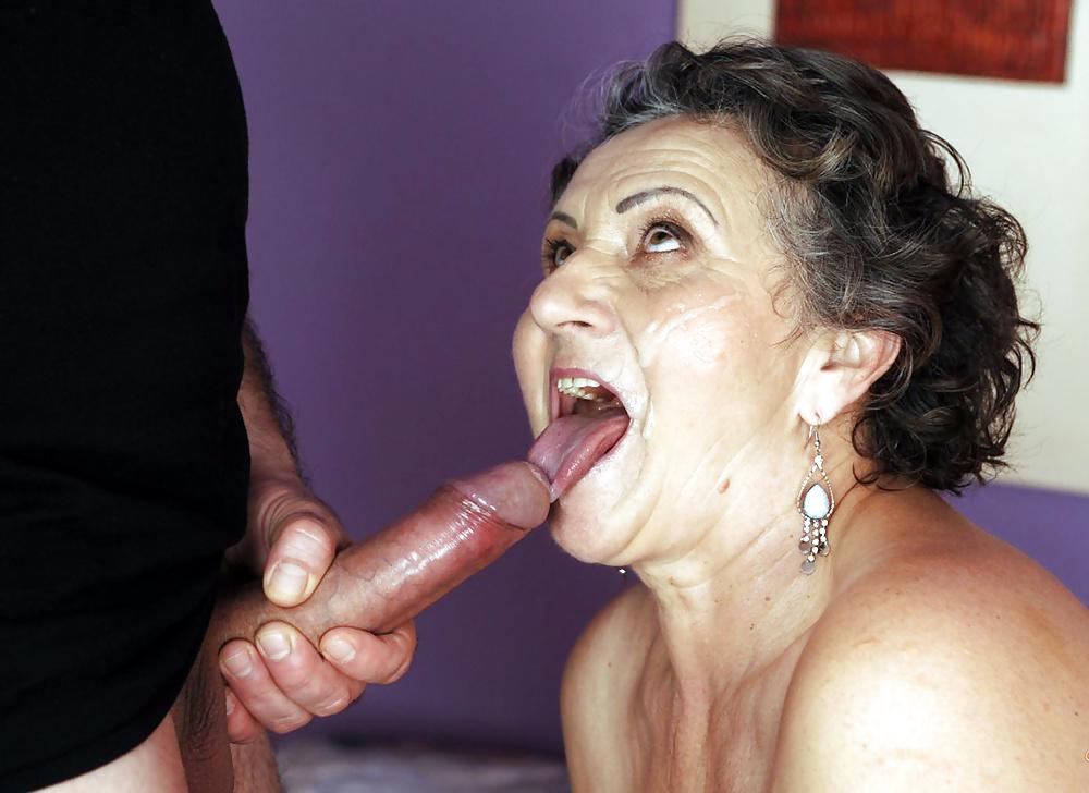 Granny Cum Swallow Porn